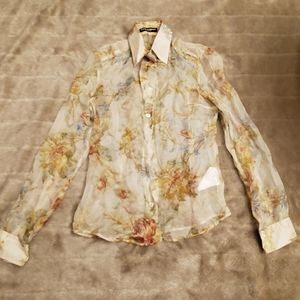 Dolce & Gabbana silk floral blouse, only worn once